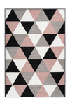 Bravo 300 Powder Pink and Geometric Rug - Lalee Designer Rugs
