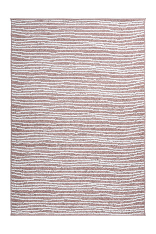 Bravo 301 powder pink with Wavy Lines - Lalee Designer Rugs