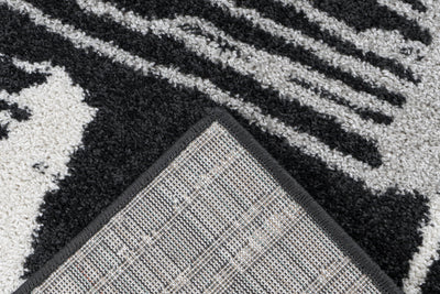 Bravo 302 Graphite and White Modern Jagged Rug - Lalee Designer Rugs