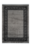 Cardin 900 Grey Pier Cardin Acrylic Rug with Black Borders - Lalee Designer Rugs