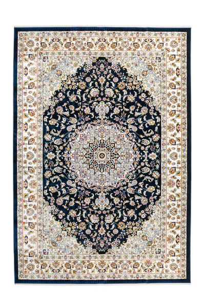 Classic 700 Navy Traditional Design Rug With Center Medallion - Lalee Designer Rugs