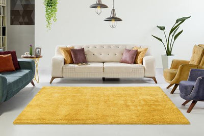 Cloud 500 Yellow Shaggy Rug - Lalee Designer Rugs