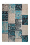Cocoon 990 Blue Checkered Modern Rug - Lalee Designer Rugs