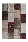 Cocoon 990 Red Checkered Modern Rug - Lalee Designer Rugs