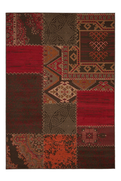 Contempo 139 Red Checkered Modern Rug - Lalee Designer Rugs