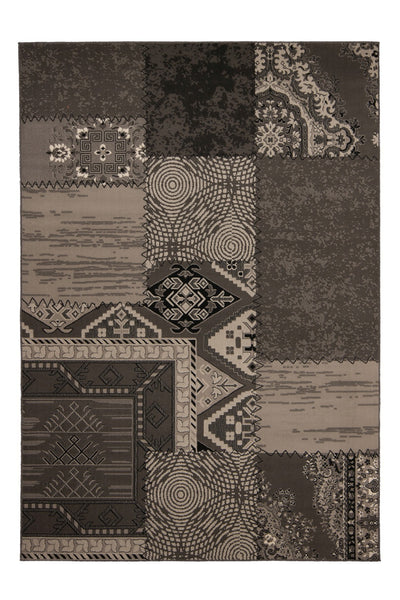 Contempo 139 Silver Checkered Modern Rug - Lalee Designer Rugs