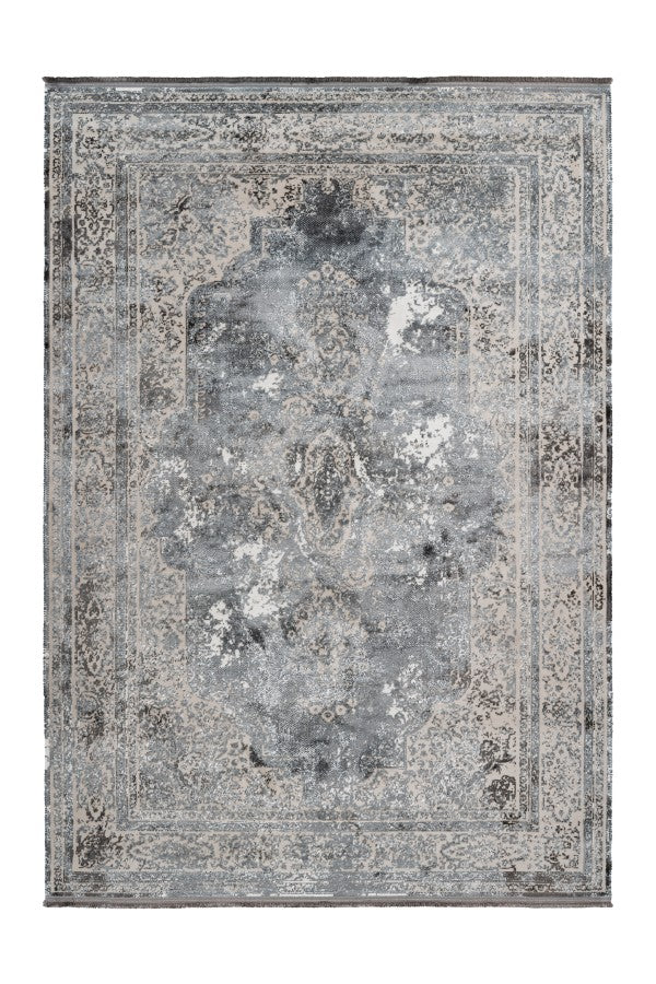 Pierre Cardin - Elysee 902 Silver Transitional Faded Rug - Lalee Designer Rugs