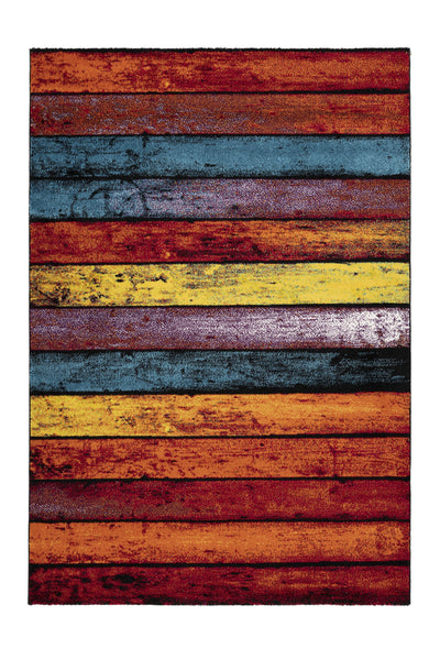 Espo 312 Rainbow Multi Colour Thick Rug - Lalee Designer Rugs