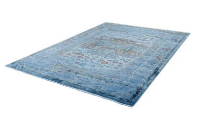Fashion 900 Blue Transitional Acrylic Rug - Lalee Designer Rugs