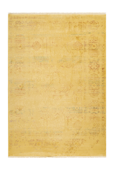 Fashion 901 Yellow Acrylic Transitional Rug - Lalee Designer Rugs