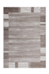 Feeling 500 Beige Plain Border Thick Rug - Lalee Designer Rugs