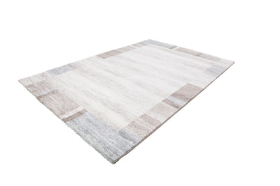 Feeling 500 Pastel Blue Plain Border Thick Rug - Lalee Designer Rugs