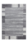Feeling 500 Silver Plain Border Thick Rug - Lalee Designer Rugs