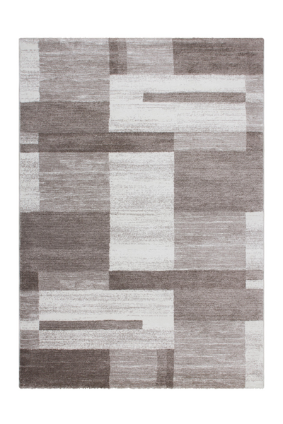 Feeling 501 Beige Simple Thick Geometric Rug - Lalee Designer Rugs