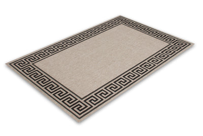 Finca 502 Silver Border Outdoor/Kitchen Rug - Lalee Designer Rugs