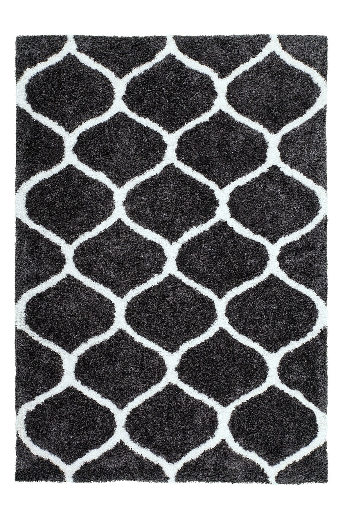 Grace 802 Graphite Moroccan Style Shaggy Rug - Lalee Designer Rugs