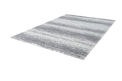 Harmony 400 Modern Plain Silver Rug with Abstract Lines - Lalee Designer Rugs