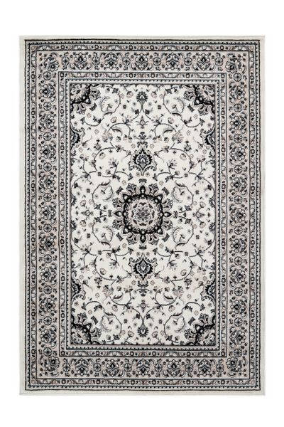 Kairo 300 Traditional Ivory Rug With Centre Medallion - Lalee Designer Rugs