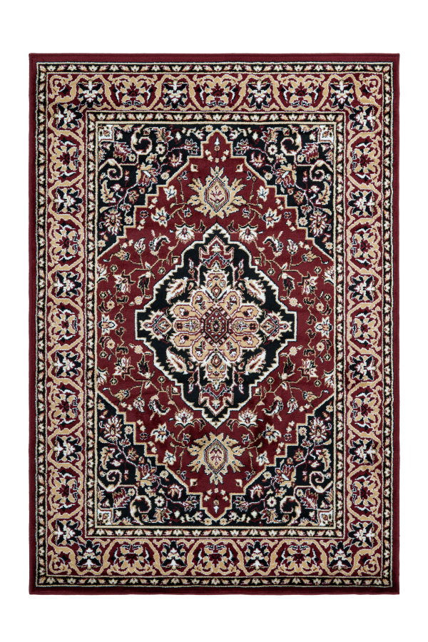 Kairo 301 Traditional Red Rug with Centre Medallion - Lalee Designer Rugs