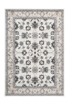 Kairo 302 Traditional Ivory Rug with Floral Design - Lalee Designer Rugs