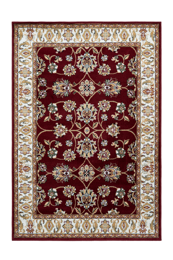 Kairo 302 Traditional Red Rug with Floral Design - Lalee Designer Rugs