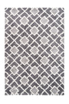 Loft 302 Shaggy Grey Rug with Diamond Pattern - Lalee Designer Rugs
