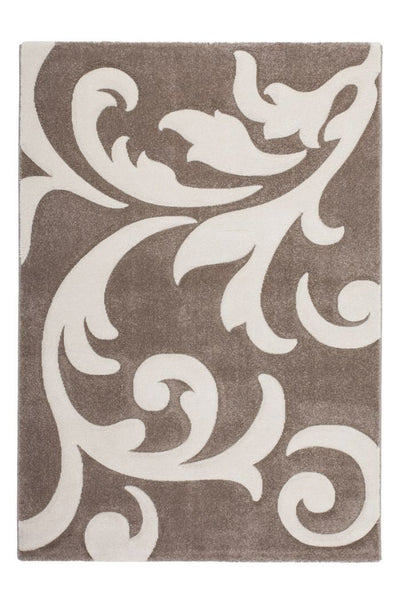 Lambada 451 Thick Beige-Ivory Rug with Floral Design - Lalee Designer Rugs