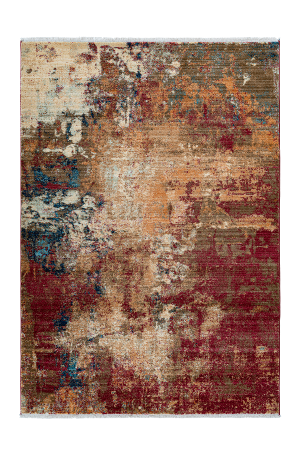 Medellin 401 Modern Abstract Red Brown Rug - Lalee Designer Rugs