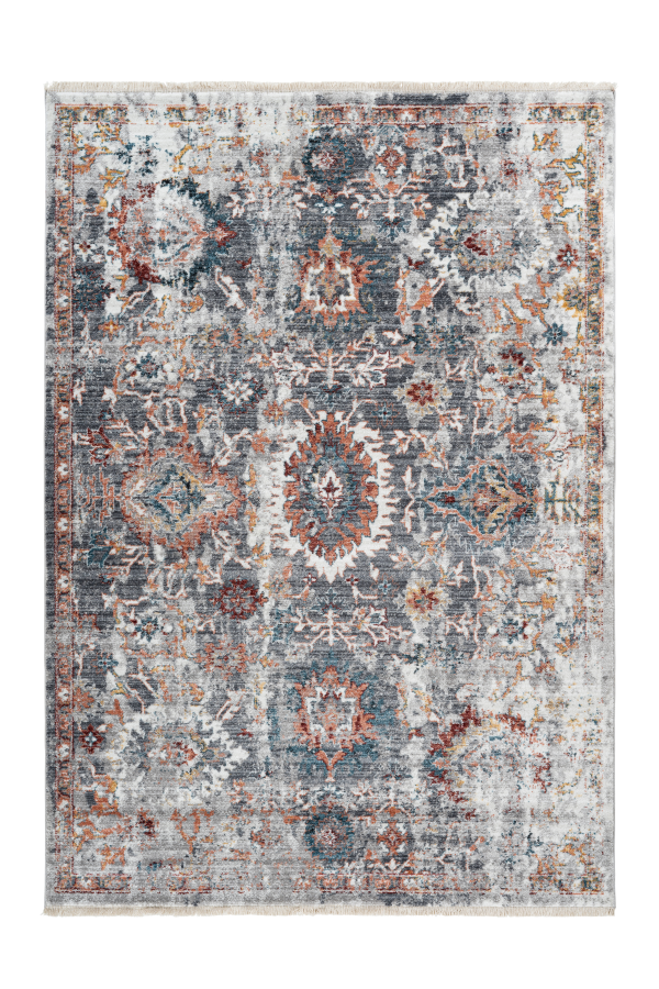 Medellin 403 Modern Multi Colour Rug with Aztec Look - Lalee Designer Rugs