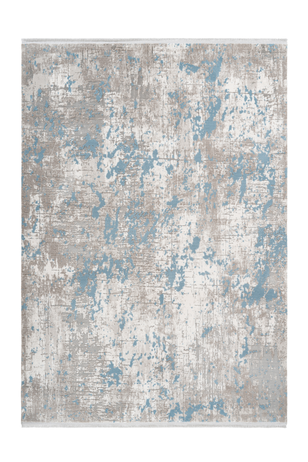 Pierre Cardin - Opera 501 Silver-Blue High Quality Abstract Rug - Lalee Designer Rugs