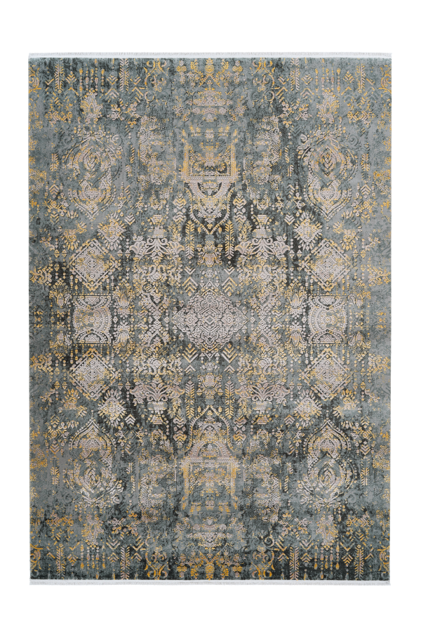 Orsay 700 High Quality Grey Yellow Pierre Cardin Rug - Lalee Designer Rugs