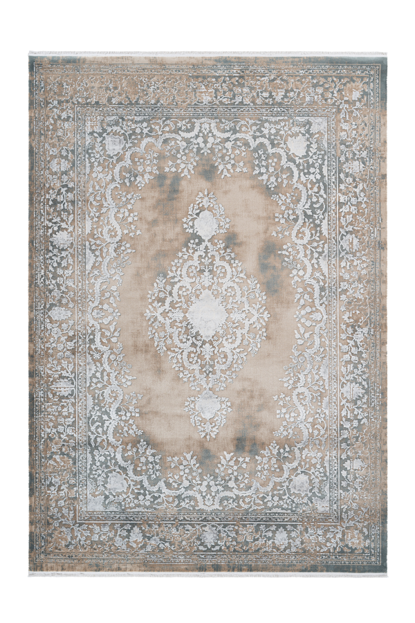 Orsay 701 High Quality Beige Pierre Cardin Rug With Centre Medallion - Lalee Designer Rugs