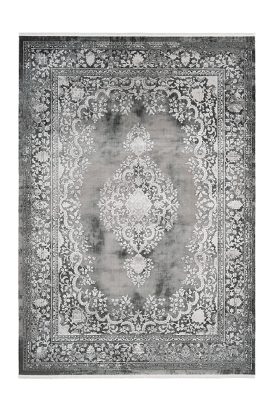Pierre Cardin - Orsay 701 High Quality Silver Rug with Centre Medallion - Lalee Designer Rugs