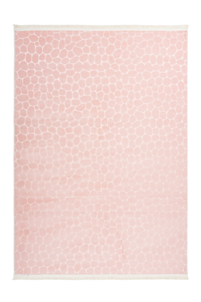 Peri 110 Powder Pink Machine Washable Rug - Lalee Designer Rugs