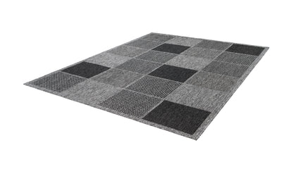 Sunset 605 Outdoor and Kitchen Silver Rug with Geometric Design - Lalee Designer Rugs