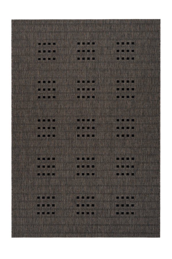 Sunset 606 Outdoor and Kitchen Taupe Rug with Dice Spotted Design - Lalee Designer Rugs