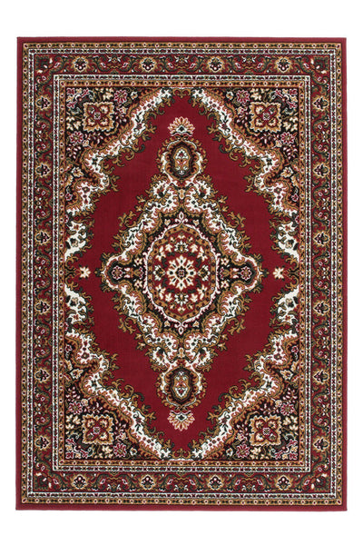 Sahara 102 Cheap Traditional Red Rug with Centre Medallion - Lalee Designer Rugs