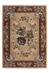 Sahara 321 Cheap Traditional Beige Rug with Floral Centre Medallion - Lalee Designer Rugs