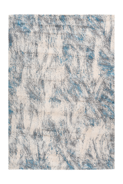 Sensation 501 Thick Modern Blue and Grey Abstract Rug - Lalee Designer Rugs