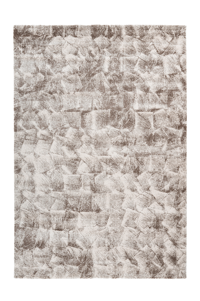 Sensation 504 Thick Modern Beige Rug with Jagged Design - Lalee Designer Rugs