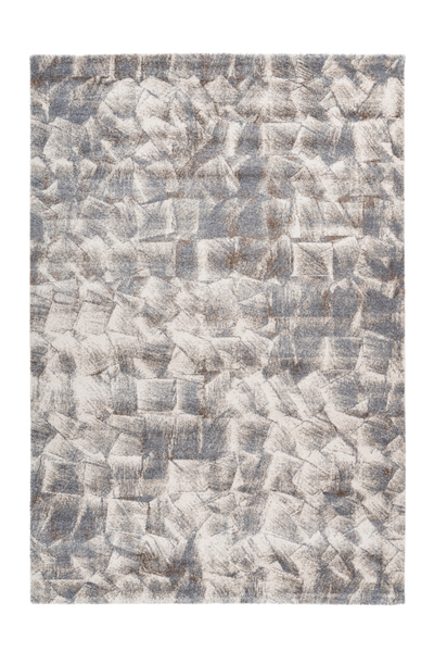Sensation 504 Thick Modern Grey Beige Rug with Jagged Design - Lalee Designer Rugs