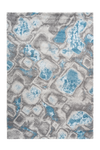 Sensation 505 Thick Modern Blue Rug with Abstract Geometric Design - Lalee Designer Rugs