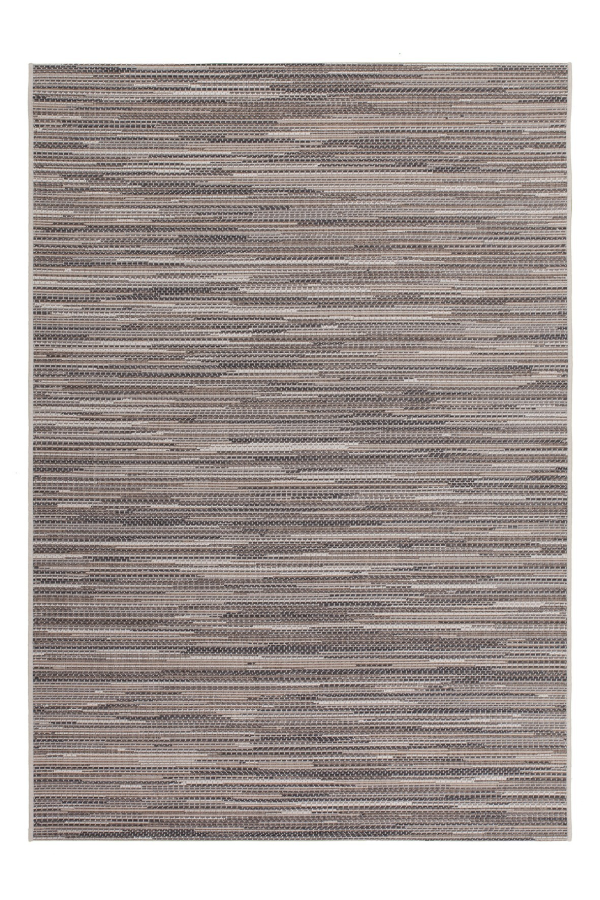 Sunset 600 Outdoor and Kitchen Beige Rug with Jagged Lines - Lalee Designer Rugs
