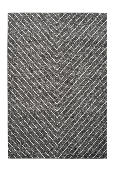 Swing 102 Modern Silver Rug with V Shape - Lalee Designer Rugs