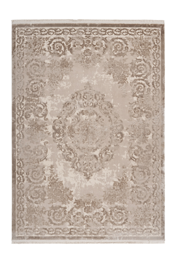 Vendome 700 Luxury Acrylic Beige Rug with Centre Medallion - Lalee Designer Rugs
