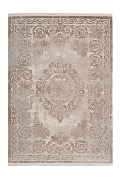 Pierre Cardin - Vendome 700 Luxury Acrylic Beige Rug with Centre Medallion - Lalee Designer Rugs