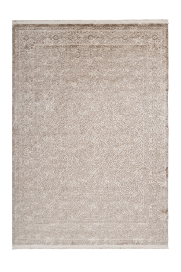 Pierre Cardin - Vendome 701 Luxury Acrylic Beige Rug with Floral Design - Lalee Designer Rugs