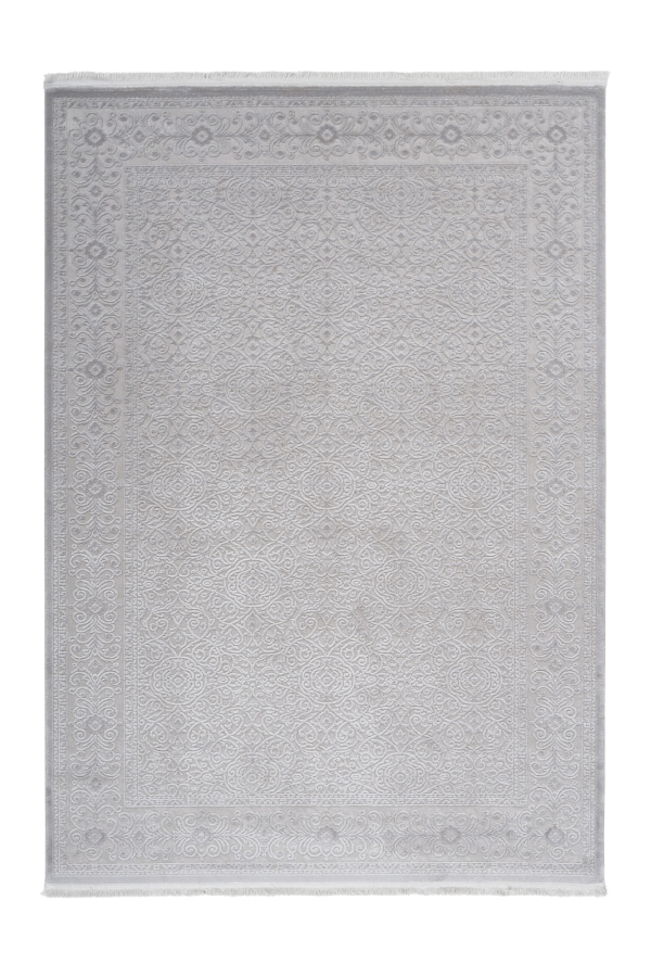 Pierre Cardin - Vendome 701 Luxury Silver Rug with Floral Design - Lalee Designer Rugs