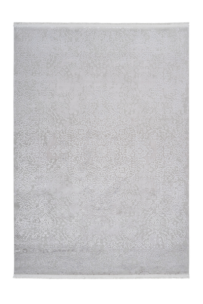 Noblesse 902 Luxury Silver Rug with Centre Medallion - Lalee Designer Rugs