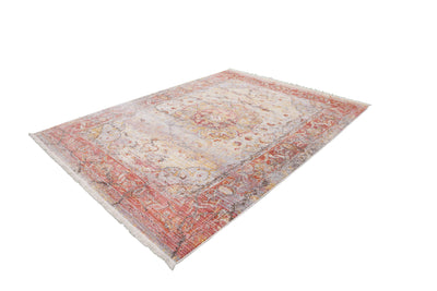 Vintage 701 Faded Multi-colour Rug with Centre Medallion - Lalee Designer Rugs